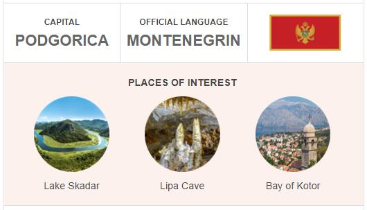Official Language of Montenegro