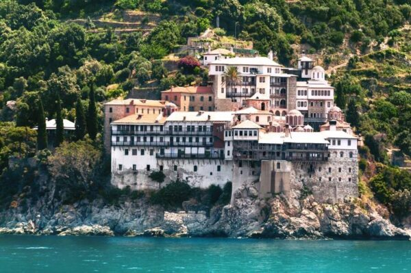 Athos monk island